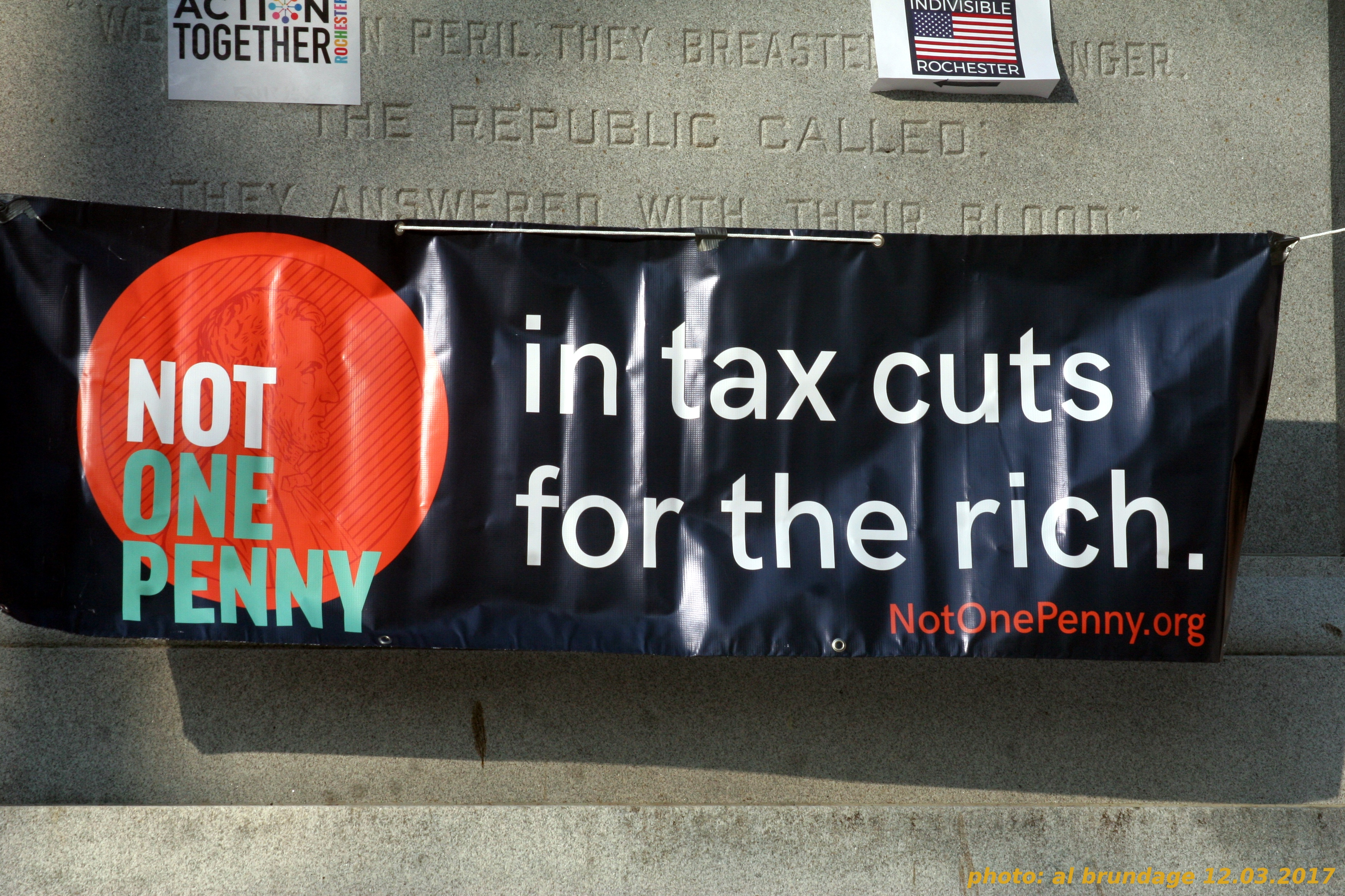 NOT ONE PENNY in tax cuts for the rich!