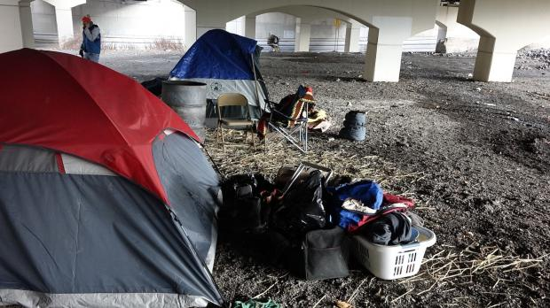 Image Gallery & Homeless displaced again as City destroys tent city (in photos ...